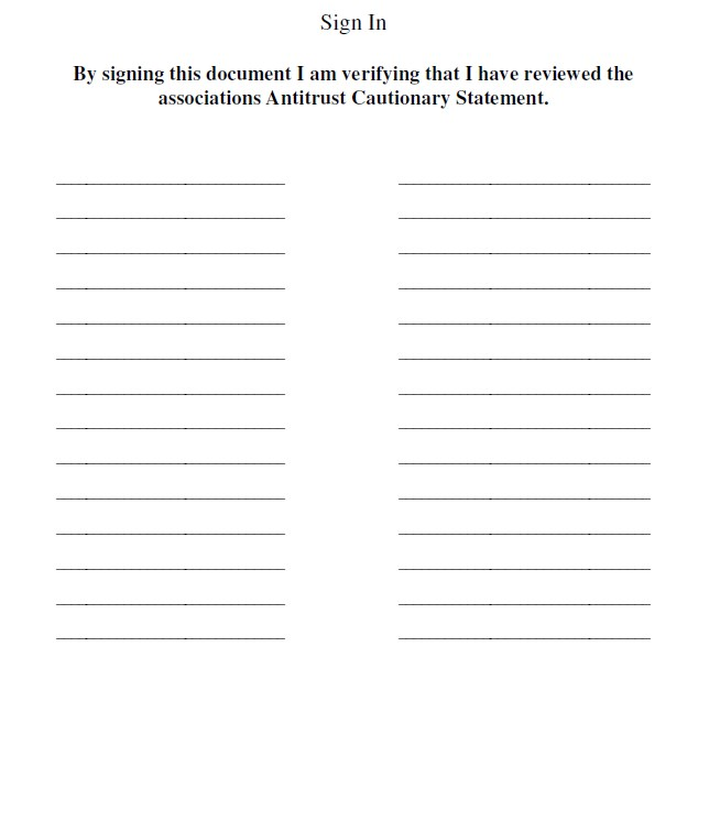Board Sign In Sheets Template