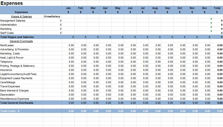 Small Business Accounting Spreadsheet Excel Template