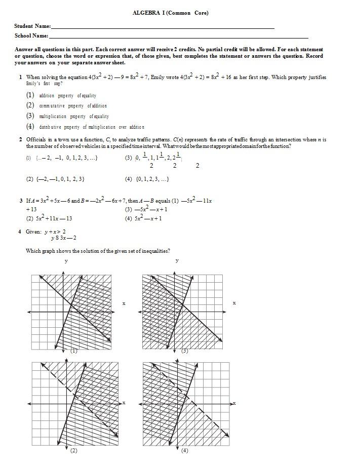 Basic Common Core Sheet Template