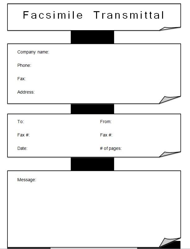 Best Business Fax Cover Sheet Template