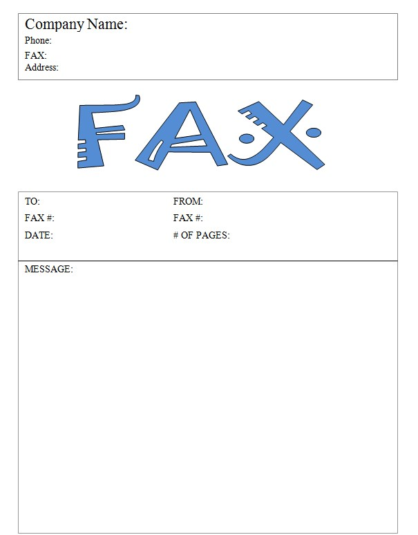 Big Fax Business Fax Cover Sheet Template Word Doc