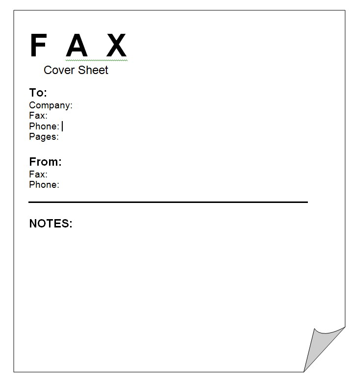 Business Fax Cover Sheet Template Word Doc