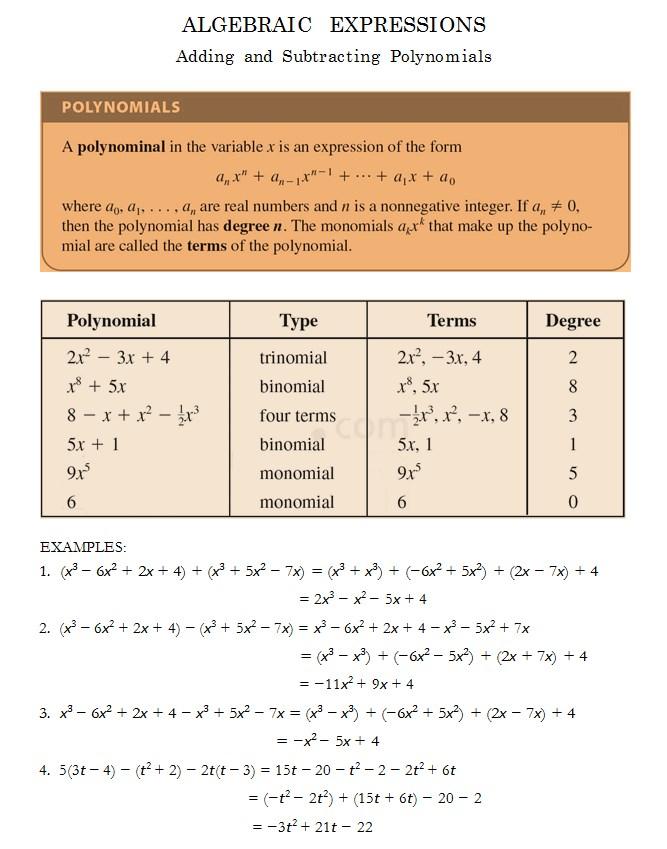 College Algebra Practice