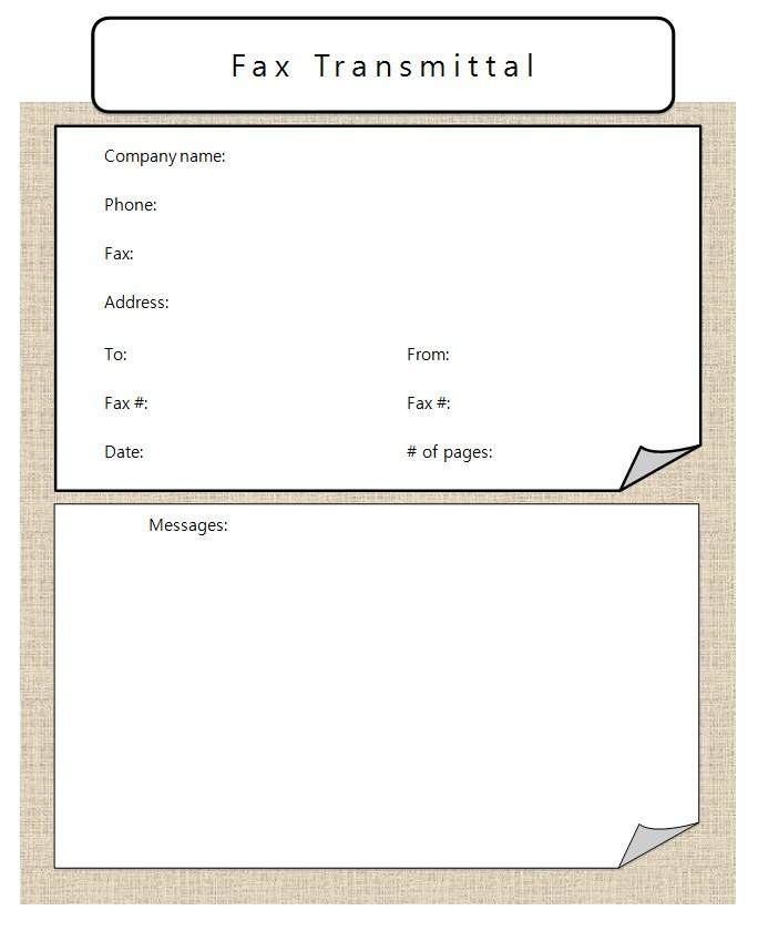 Facsimile Transmittal Business Microsoft Word Format 1