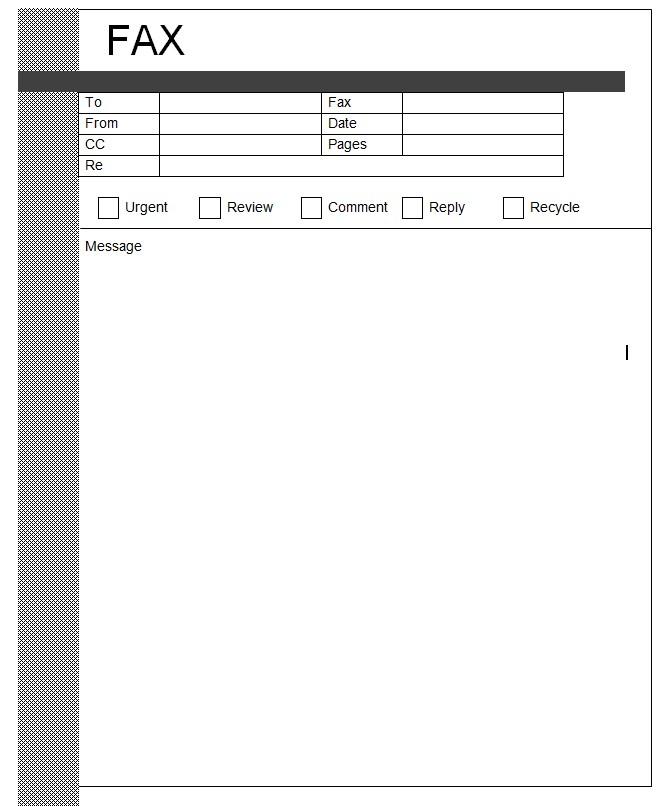 Modern Professionla Fax Template Word