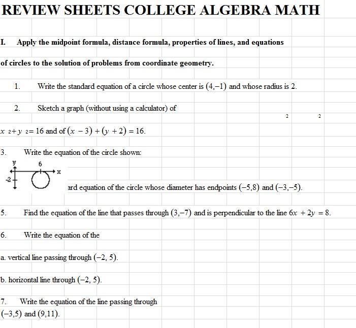 Pre Algebra Worksheet Template