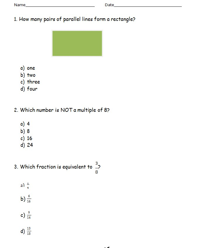 Sample Common Core Sheet Template