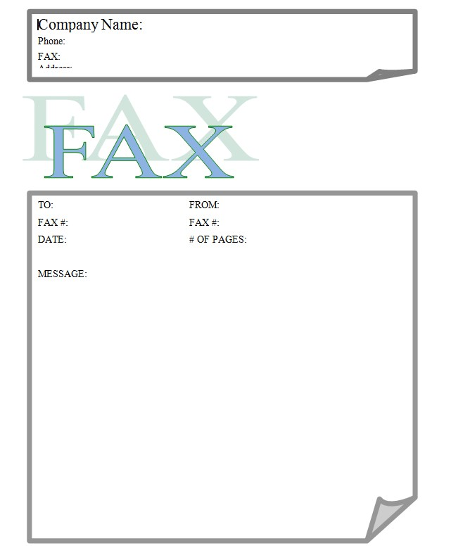 Stylish Stylus Business Fax Cover Sheet Template Word Format