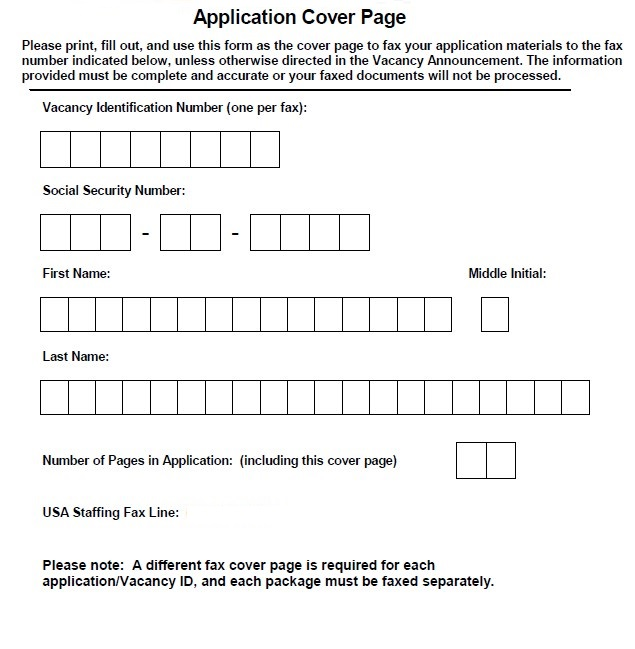 US Goverment Blank Cover Sheet