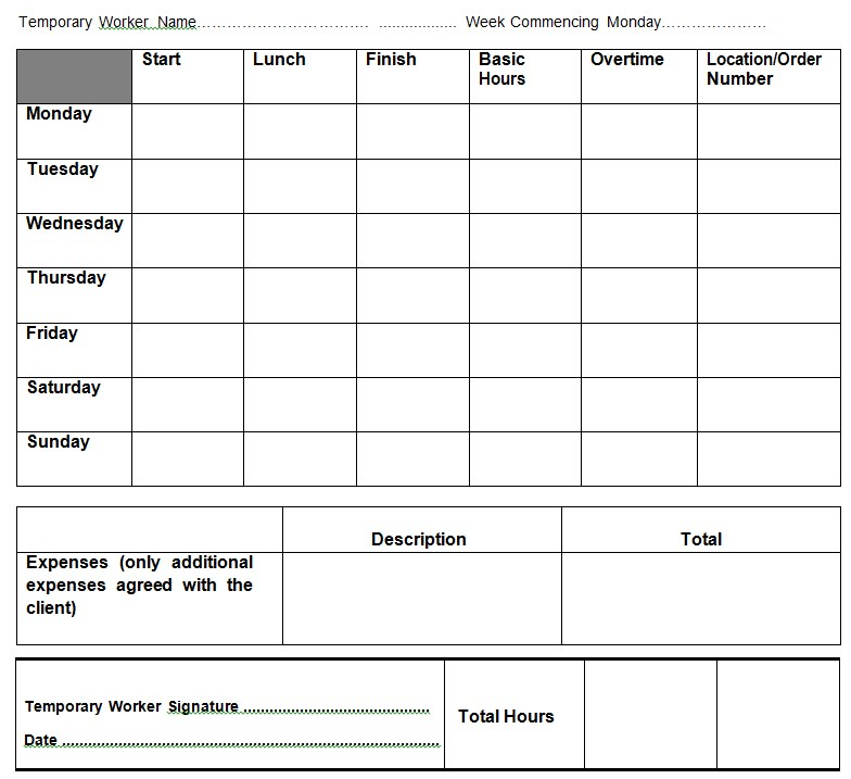 1. The Borne LTD. construction timesheet template