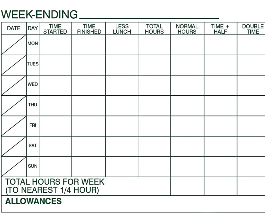 5. The Inter Industrial Services Construction Timesheet Template