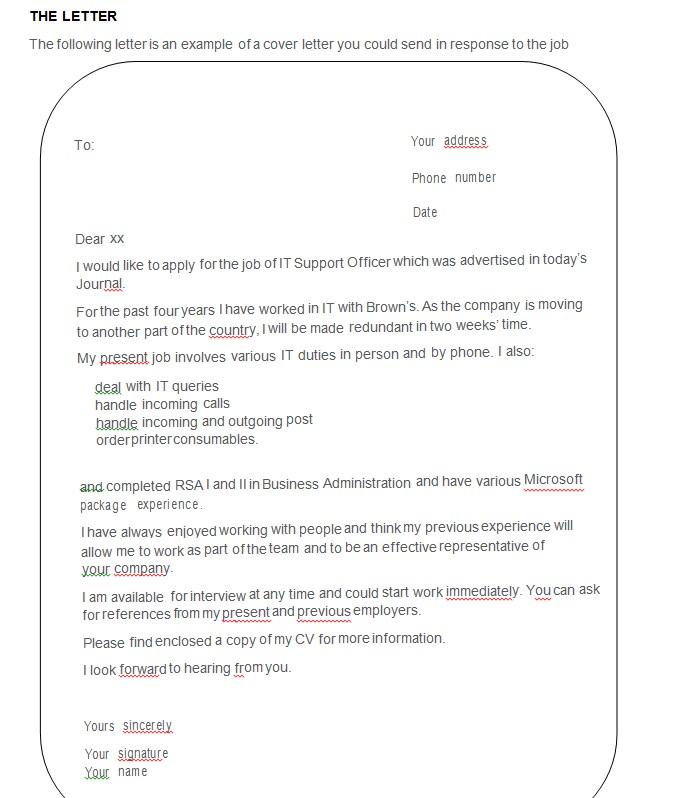 CV CoverLetter Sheet