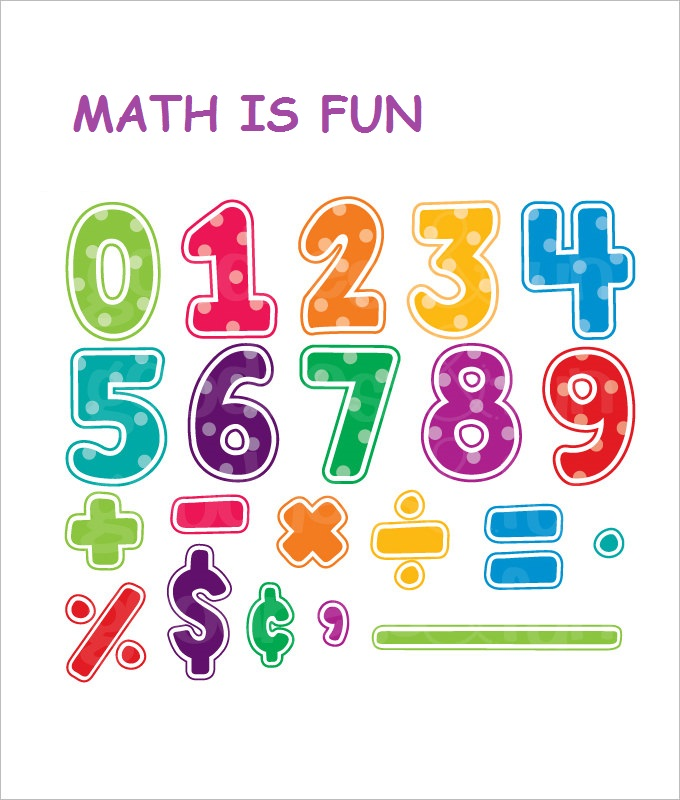 Colourful Fun Math Worksheet Template