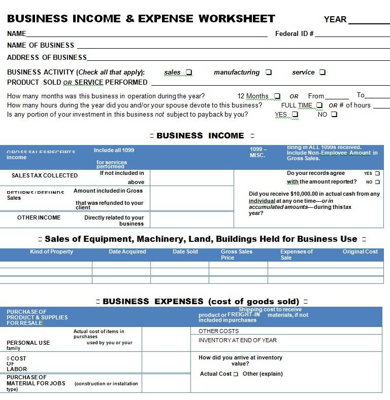 Company Expense SheetVVVV