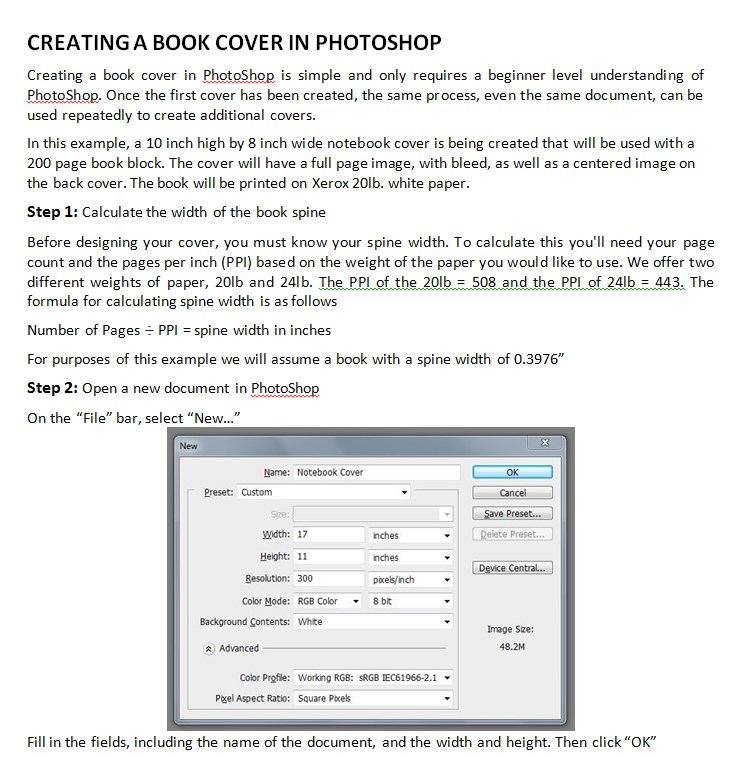 Creating Book Cover Sheet Template Example