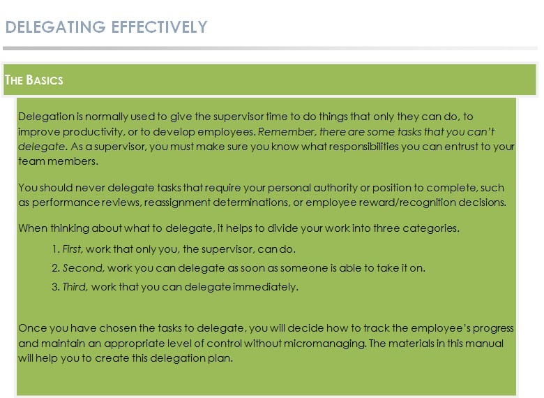 Delegating Effectively6