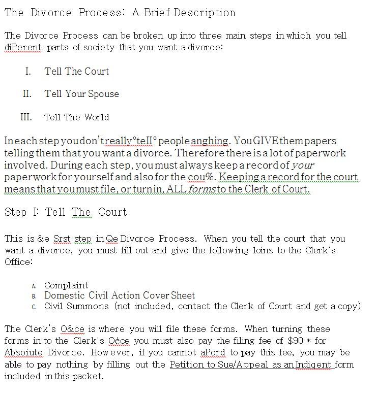 Divorce Worksheet Template 5
