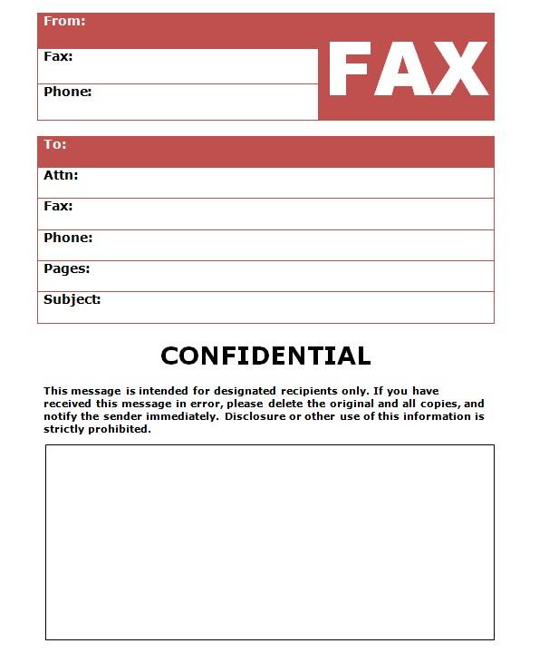 Editable Paramount Confidential Fax Template