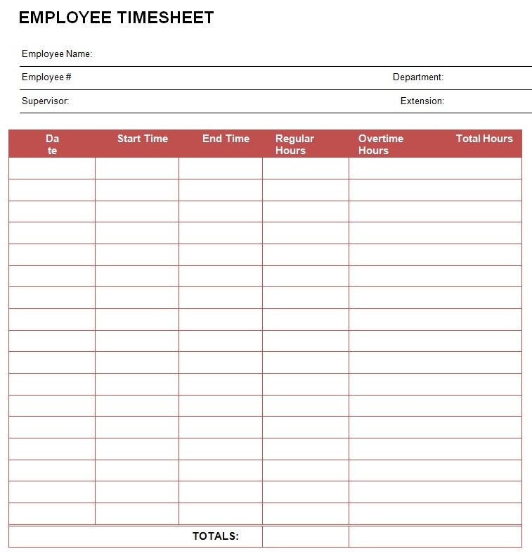 Employee TimeSheet