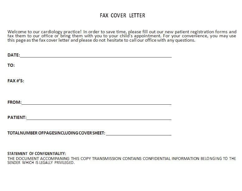 Fax Report Template