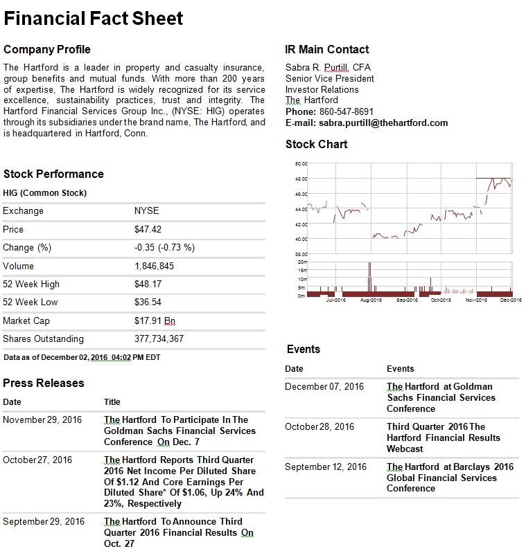 Financial Fact Sheet Template