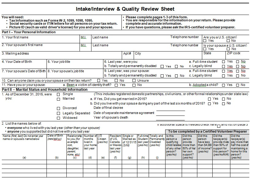 Interview Quality Review Sheet