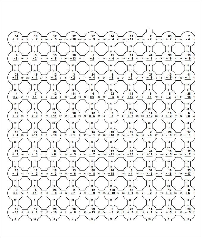 Maze Fun Math Worksheet Template