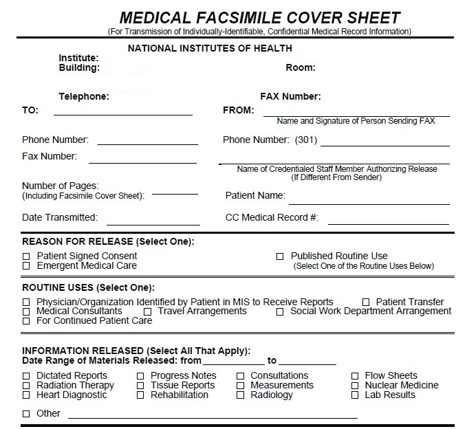 Medical Confidential Cover Sheet