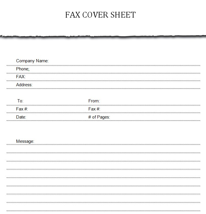 Modern Generic Fax Cover sheet in Microsoft Word mat