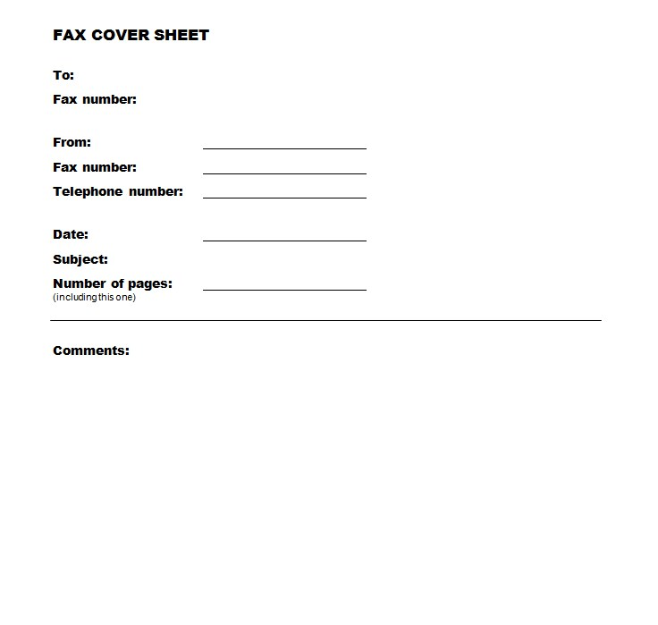 Network Fax Cover Sheet Template
