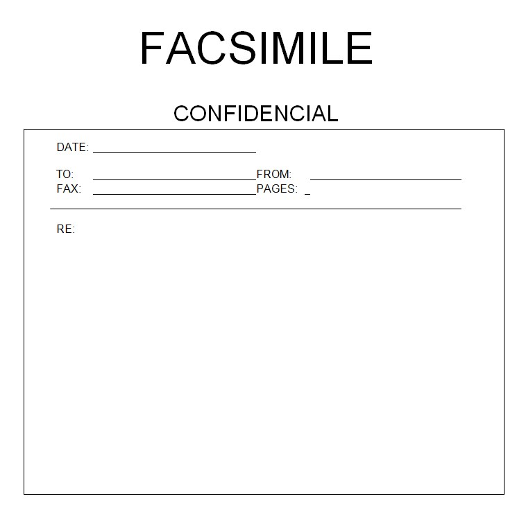 Private Fax Cover Sheet PDF for