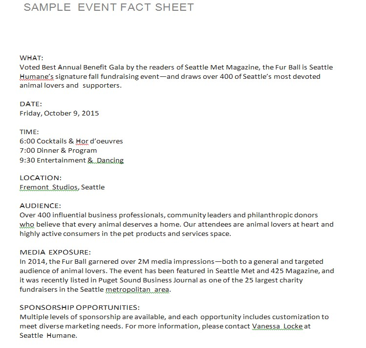 Sample Event