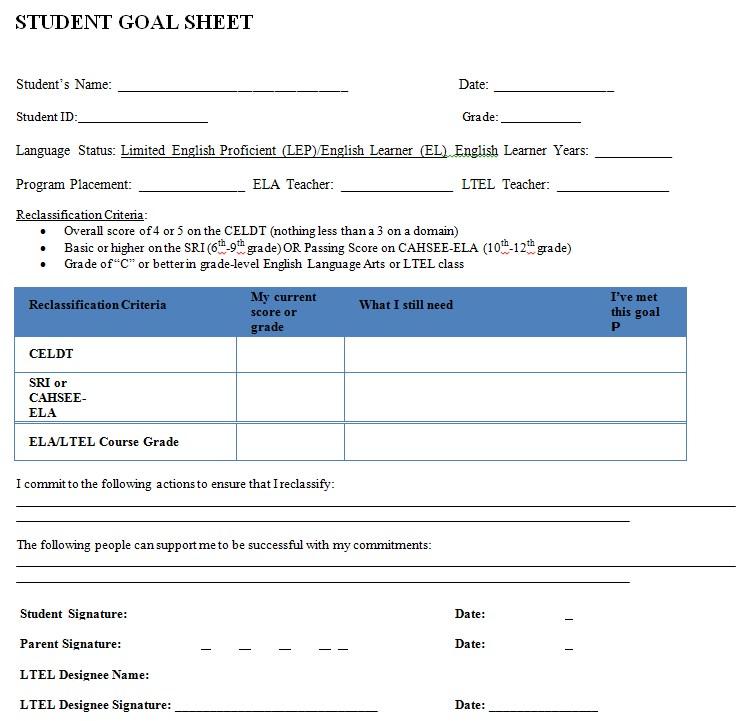 Student Goal