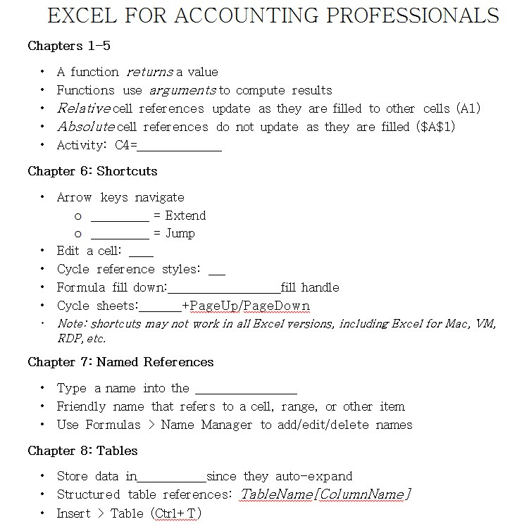 excel fr accounting professionals