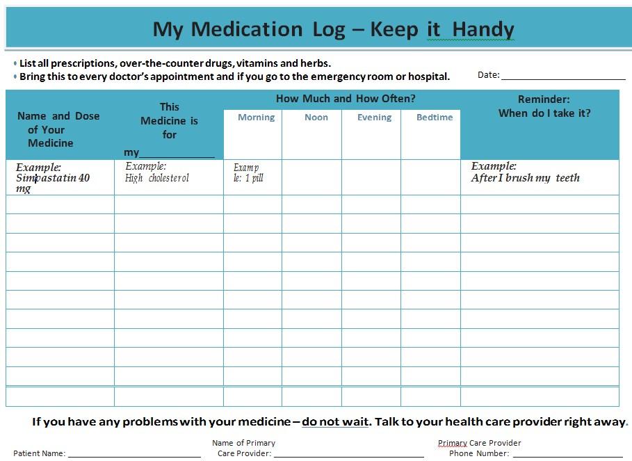 12 My Medication Log