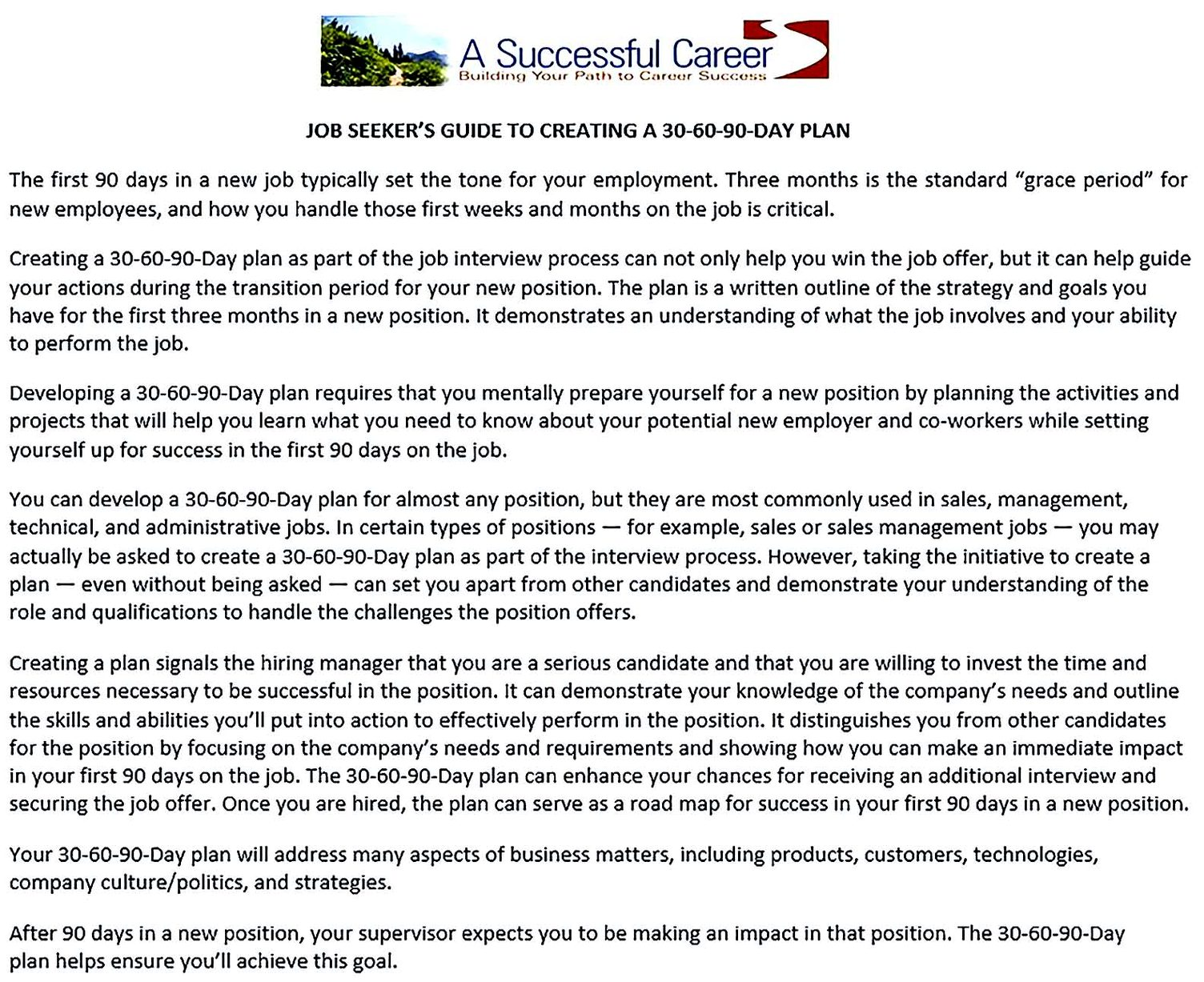 30 60 90 Day Action Plan For New Manager PDF Download