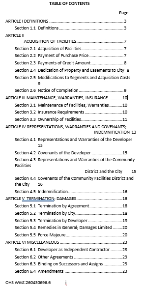 Acquisition Funding Agreement Template