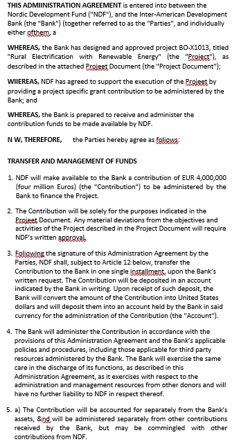 Administration Agreement in PDF