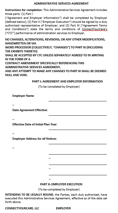 Administration Services Agreement