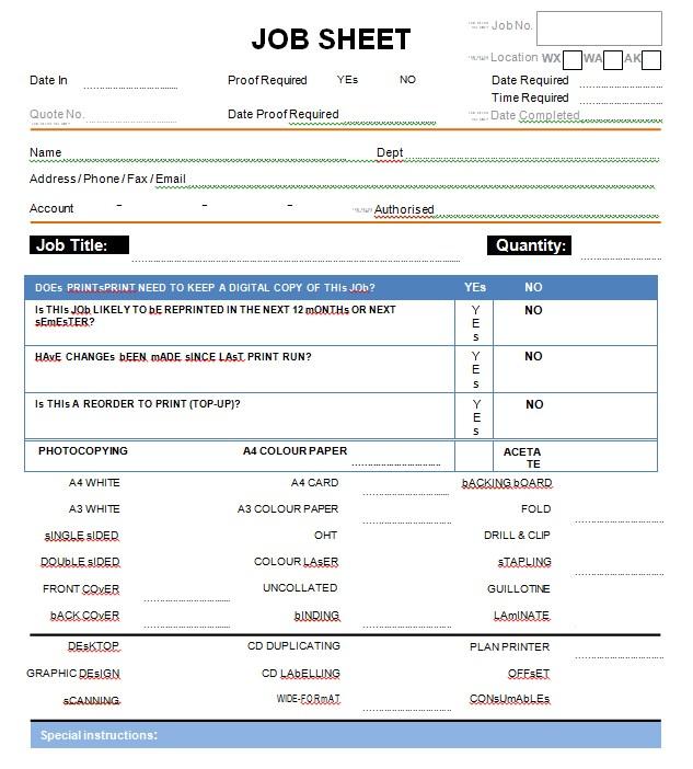 Blank Sheet Example