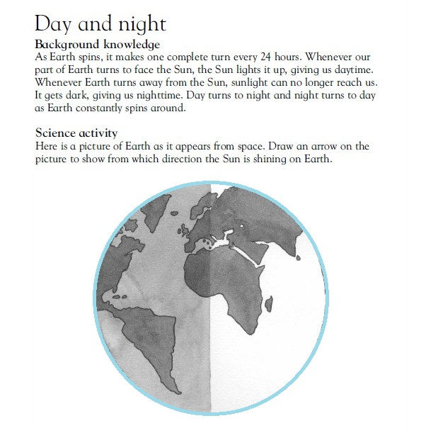 Day and Night Globe Worksheet