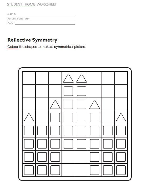 Easy Reflective Symmetry Worksheet