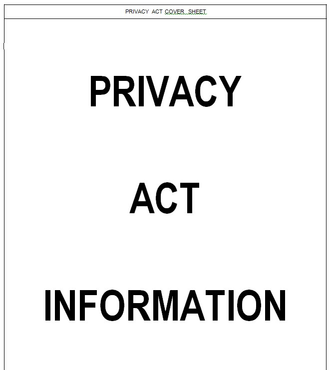 Editable Privacy Act Covet Sheet
