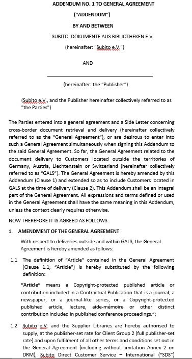 General Addendum Agreement Template