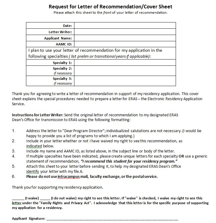 Letter of Privacy Act Cover Sheet