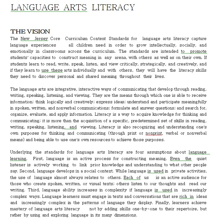 Literacy Language Art Worksheet Template
