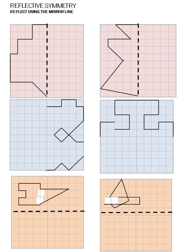 Lynne Outhwaite Reflective Symmetry Worksheet Template