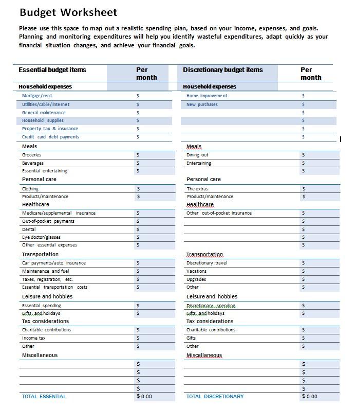 Monthly Budget Spreadsheeta Company PDF Template