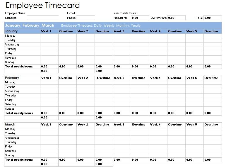 Overtime Sheet Templatein Excel mat