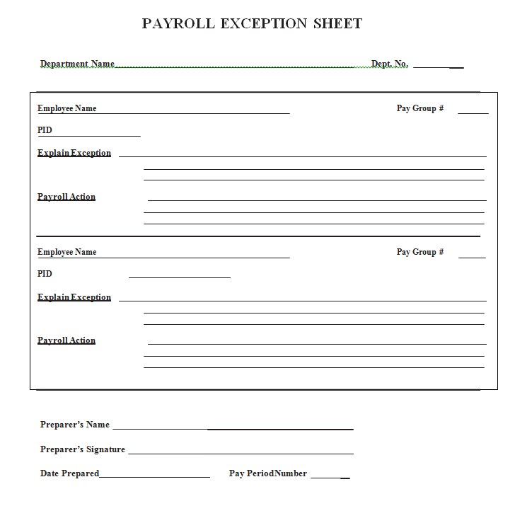Payroll Exception